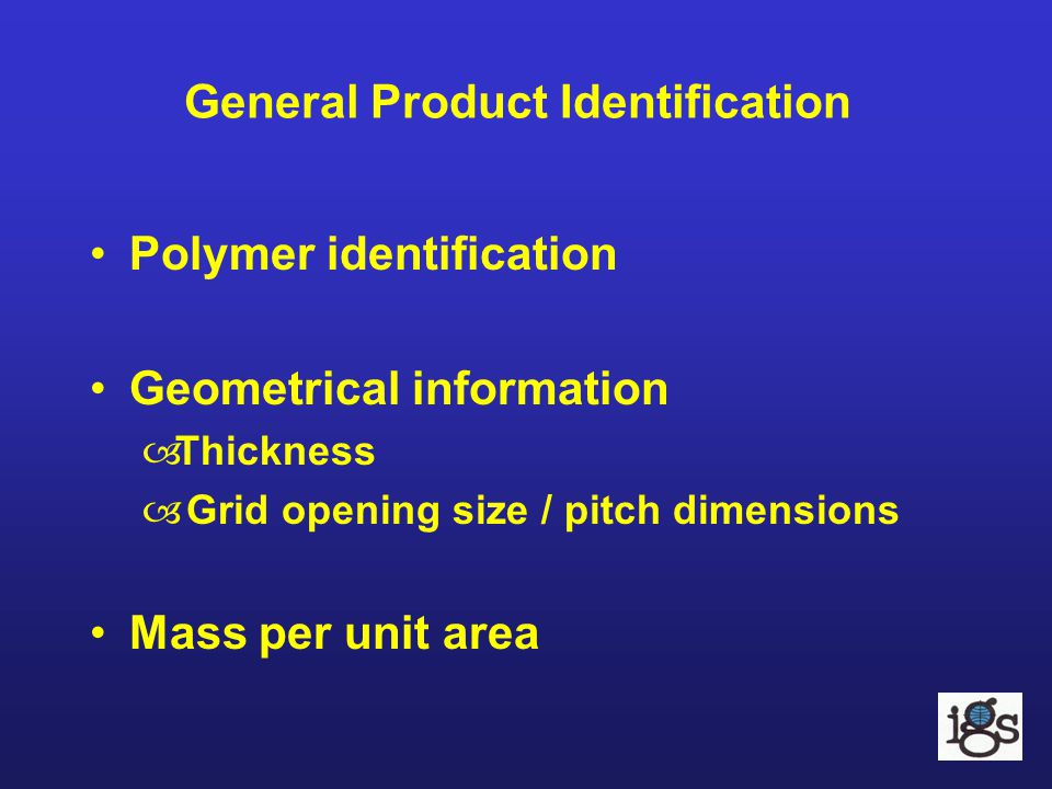 General Product Identification