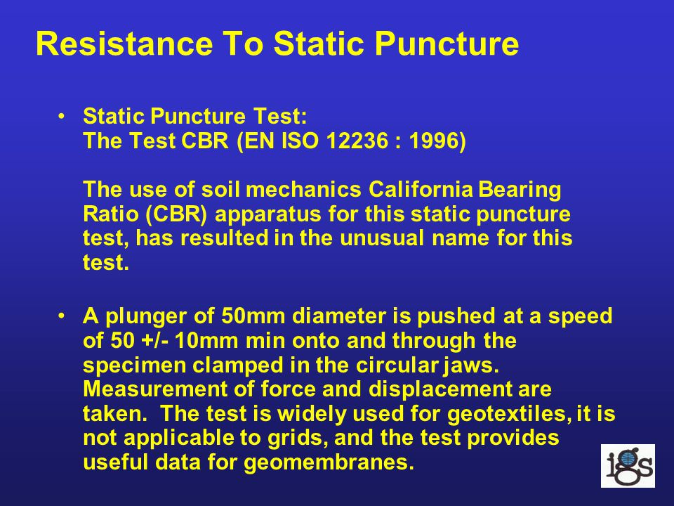 Resistance To Static Puncture