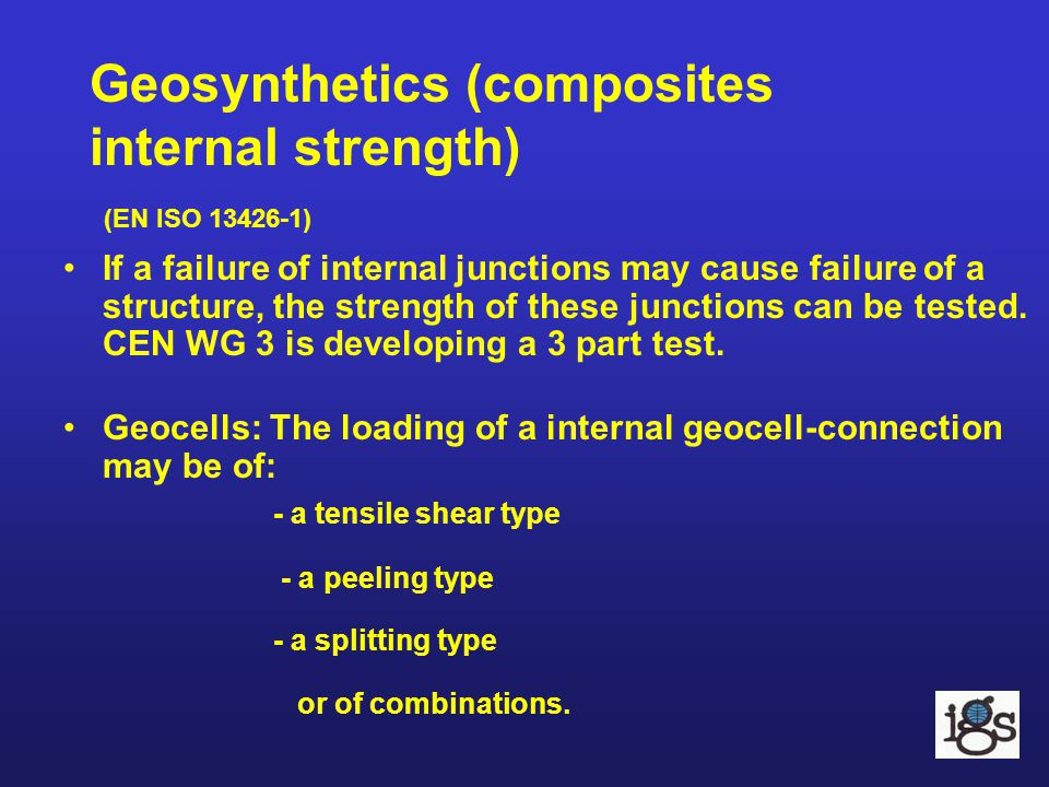 Geosynthetics (composites internal strength) (EN ISO 13426-1)