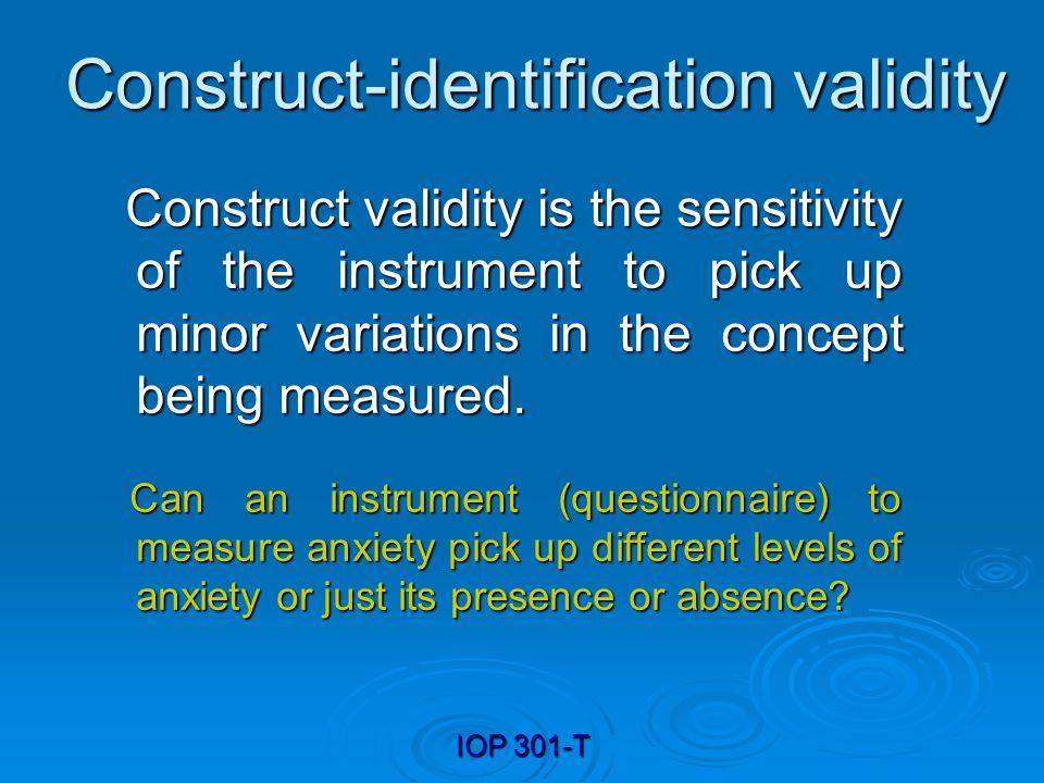 Construct-identification validity