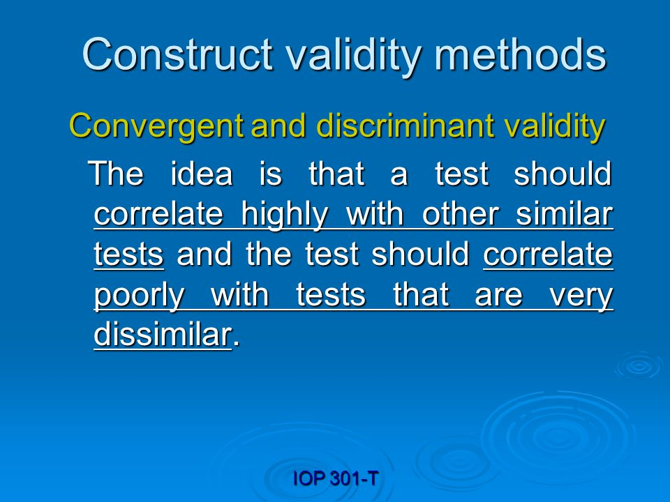 Construct validity methods