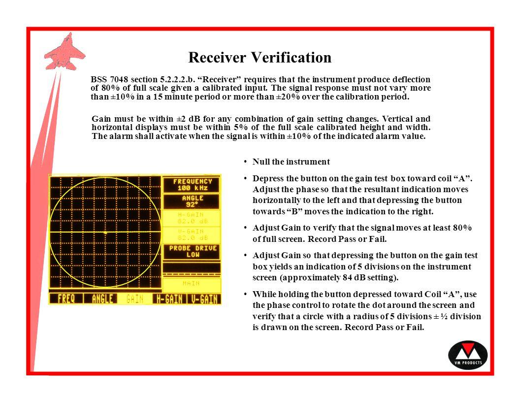 Receiver Verification