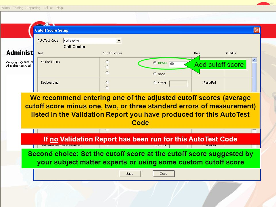 If no Validation Report has been run for this AutoTest Code