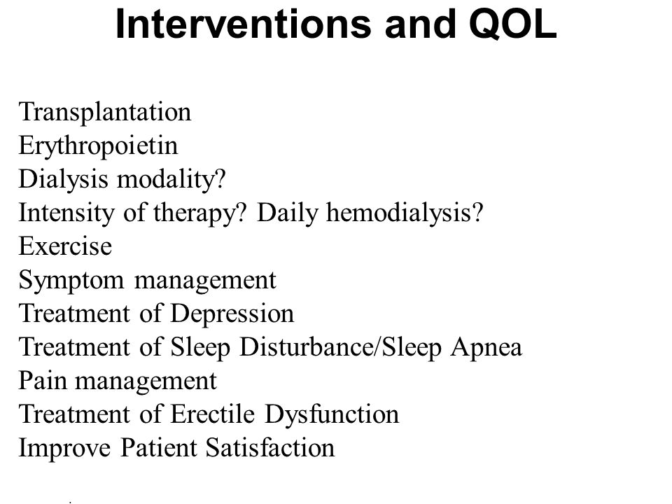 Interventions and QOL Transplantation Erythropoietin