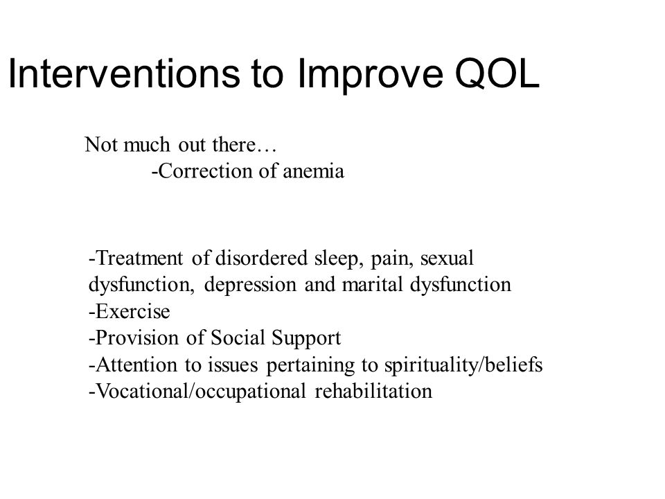 Interventions to Improve QOL