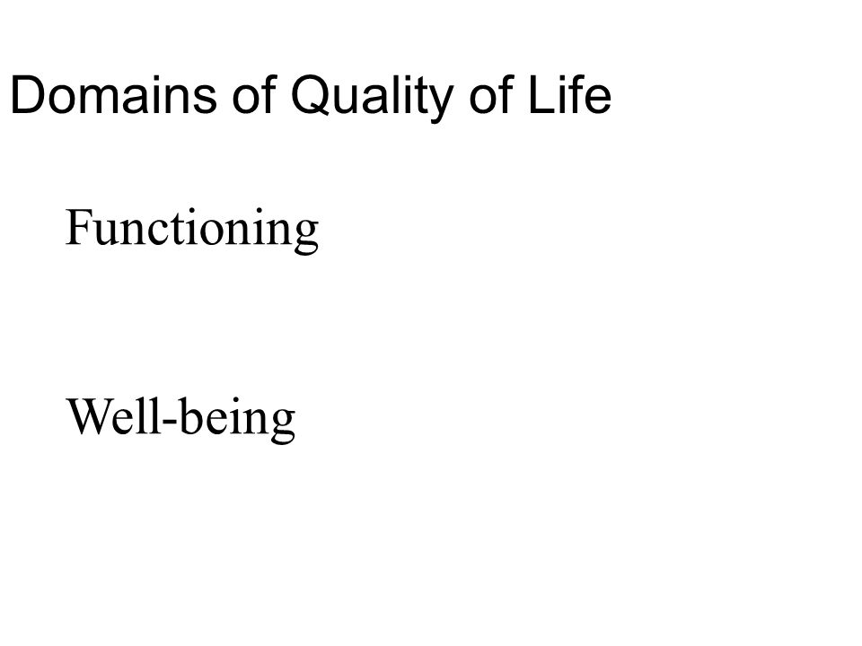 Domains of Quality of Life