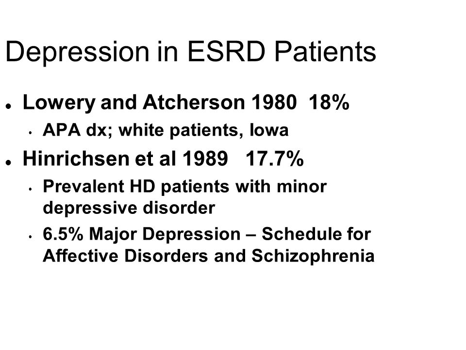 Depression in ESRD Patients