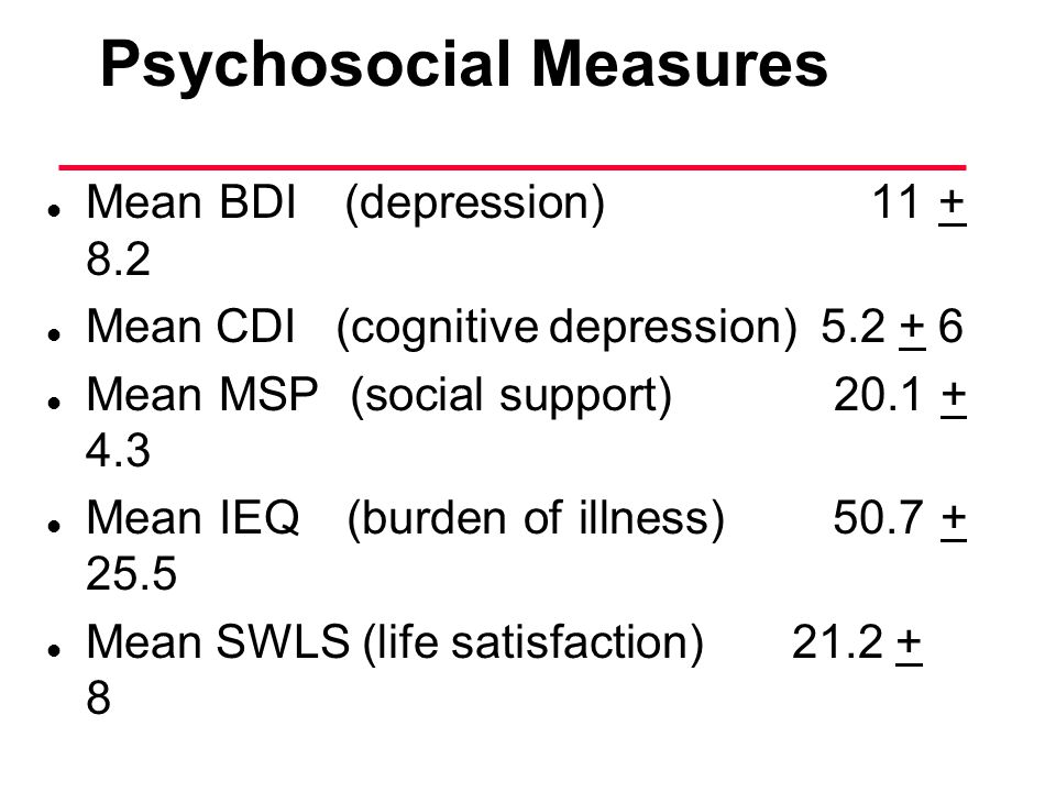 Psychosocial Measures
