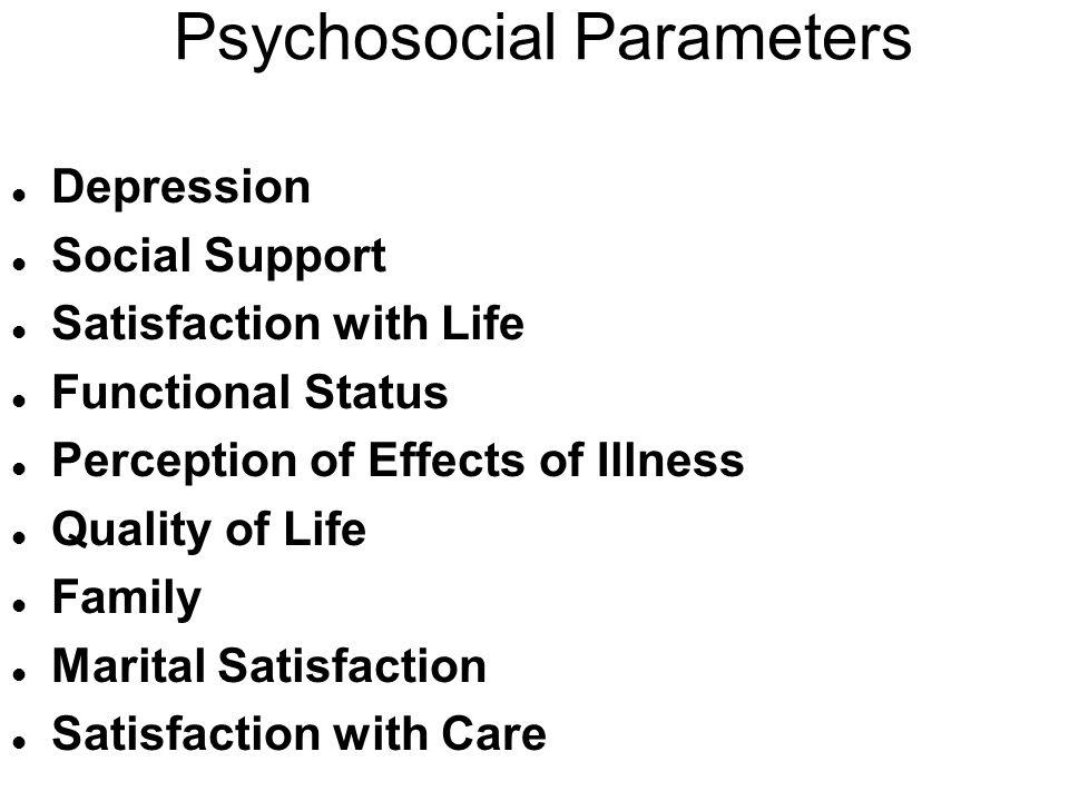 Psychosocial Parameters