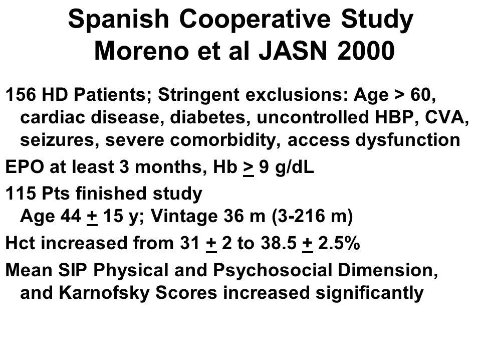 Spanish Cooperative Study Moreno et al JASN 2000