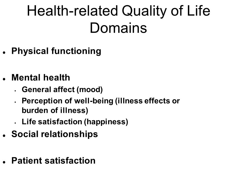 Health-related Quality of Life Domains
