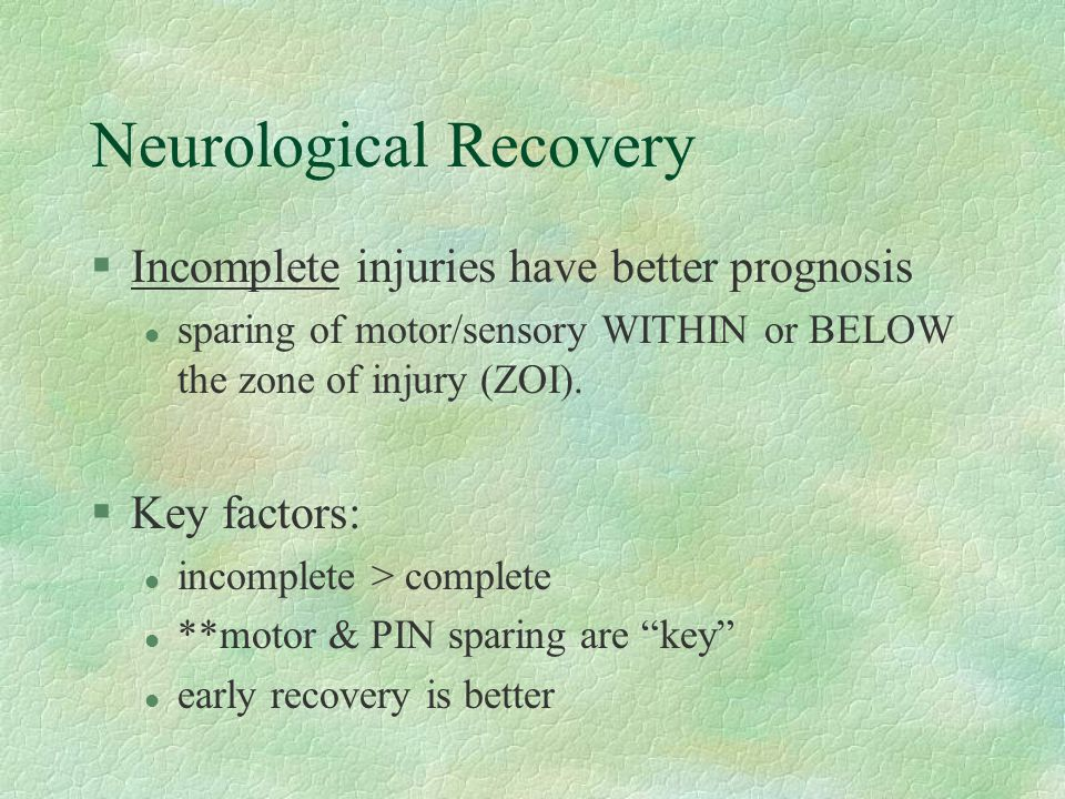 Neurological Recovery
