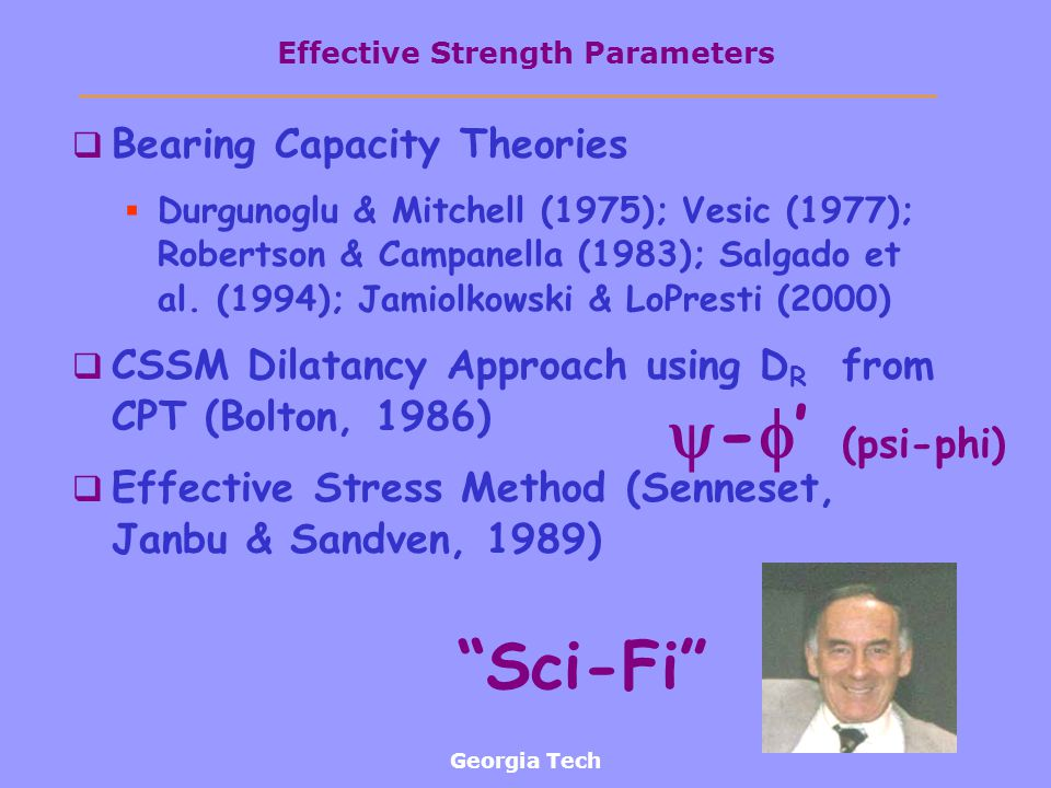 Effective Strength Parameters