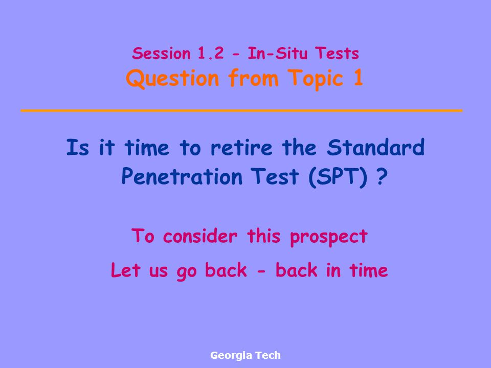 Session 1.2 - In-Situ Tests Question from Topic 1