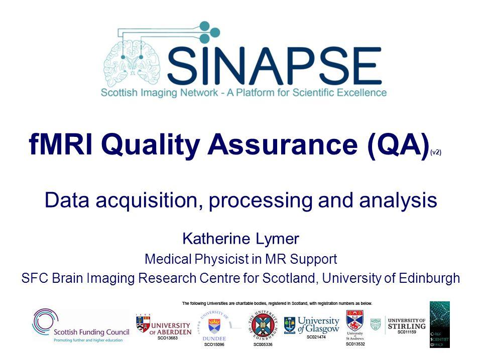 fMRI Quality Assurance (QA)(v2)