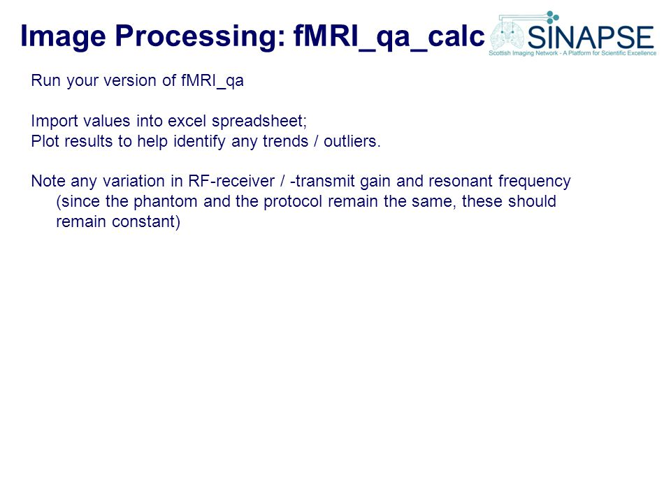 Image Processing: fMRI_qa_calc