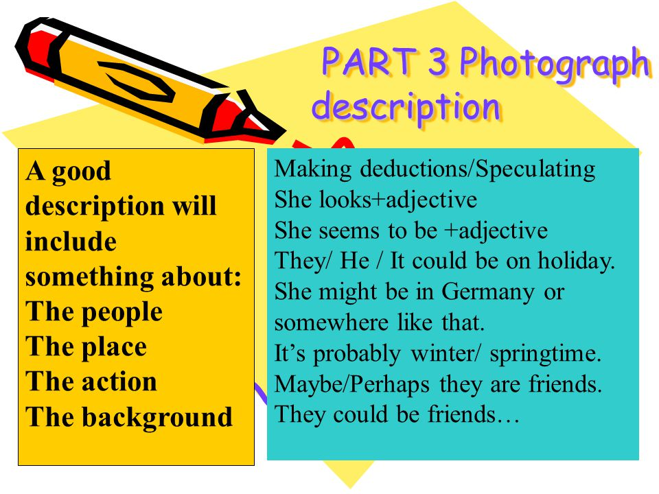 PART 3 Photograph description