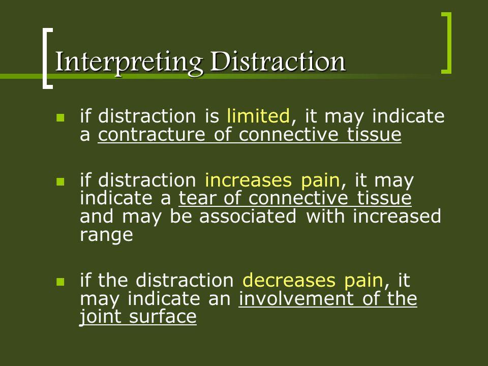 Interpreting Distraction