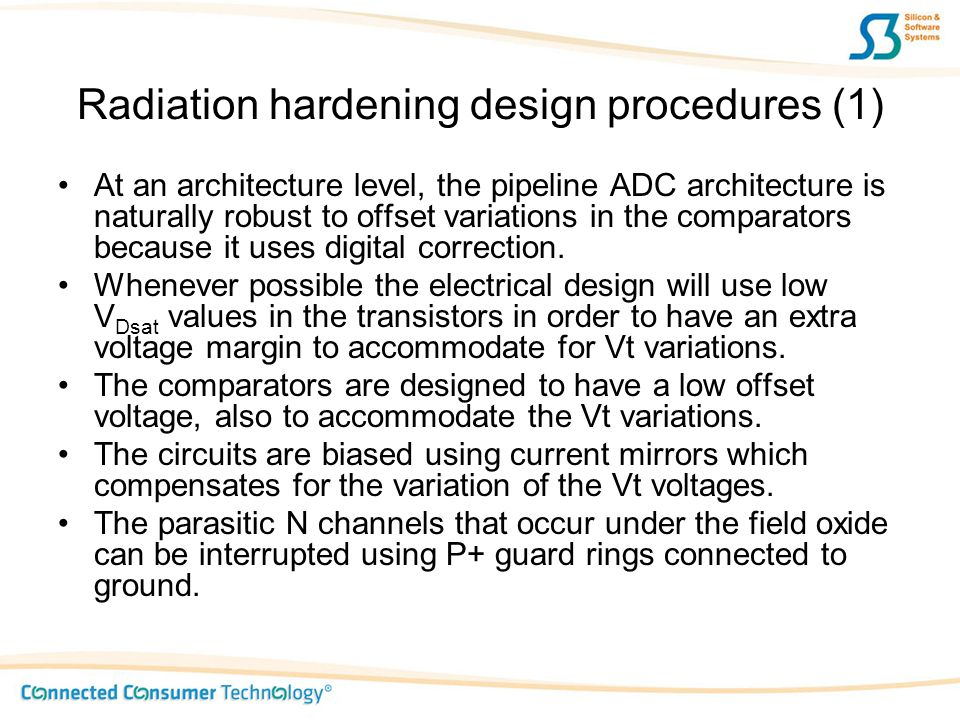 Radiation hardening design procedures (1)