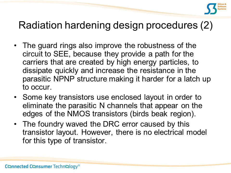 Radiation hardening design procedures (2)