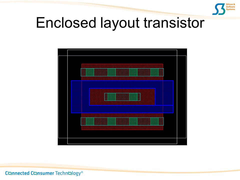 Enclosed layout transistor