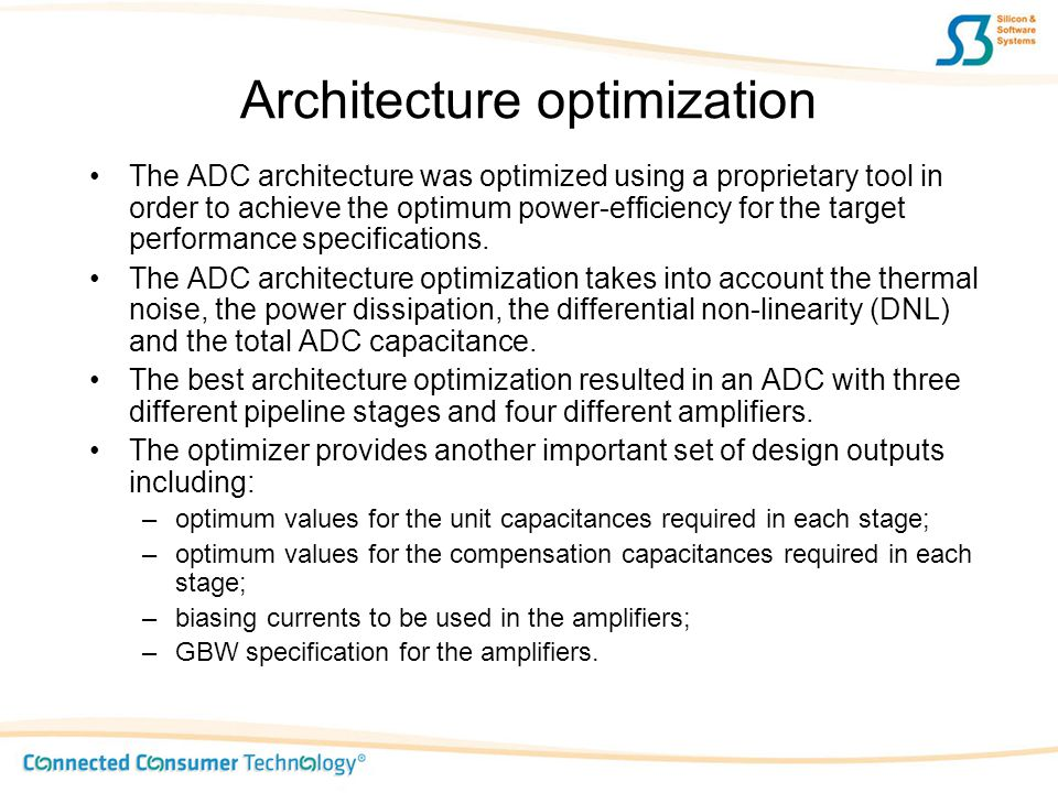 Architecture optimization