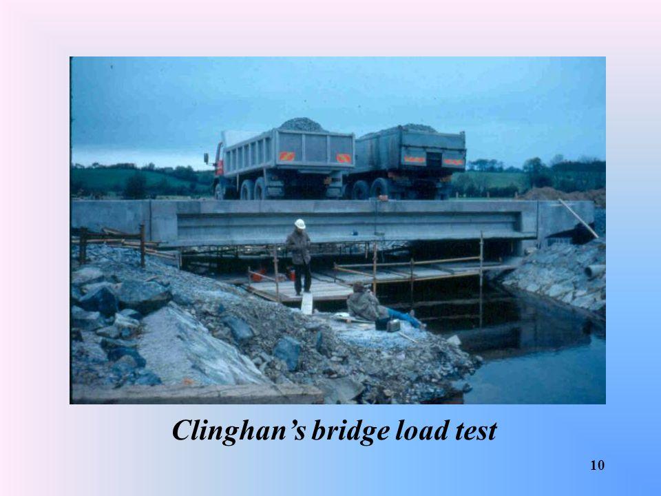 Clinghan's bridge load test