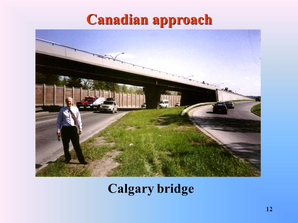 Canadian approach Calgary bridge