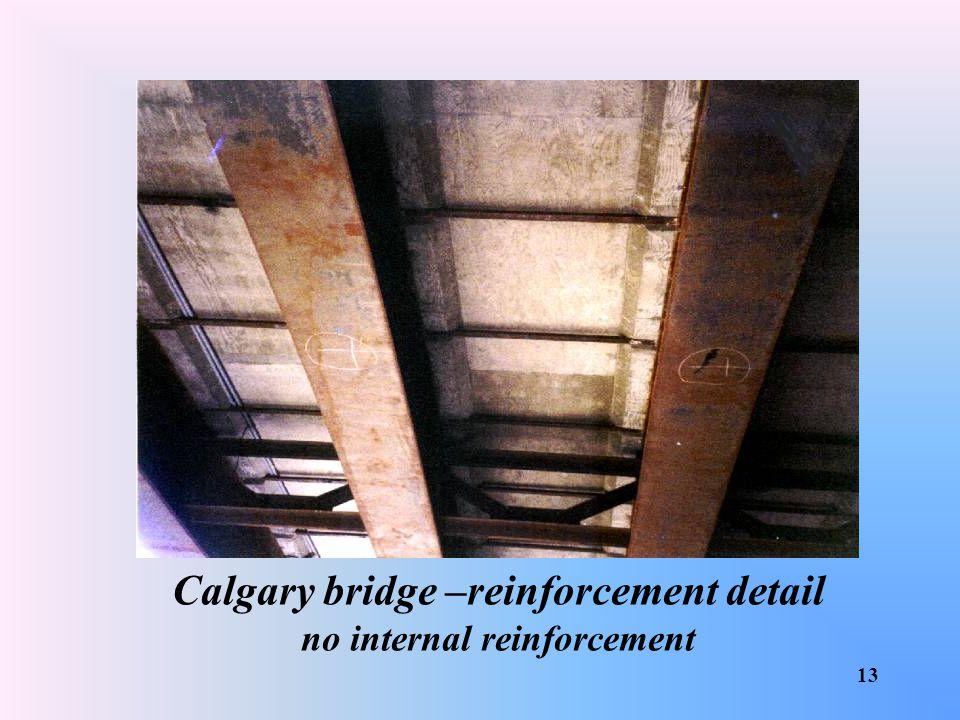 Calgary bridge –reinforcement detail no internal reinforcement
