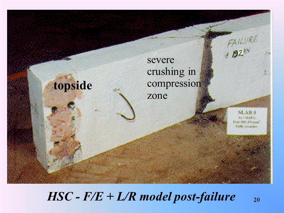 HSC - F/E + L/R model post-failure
