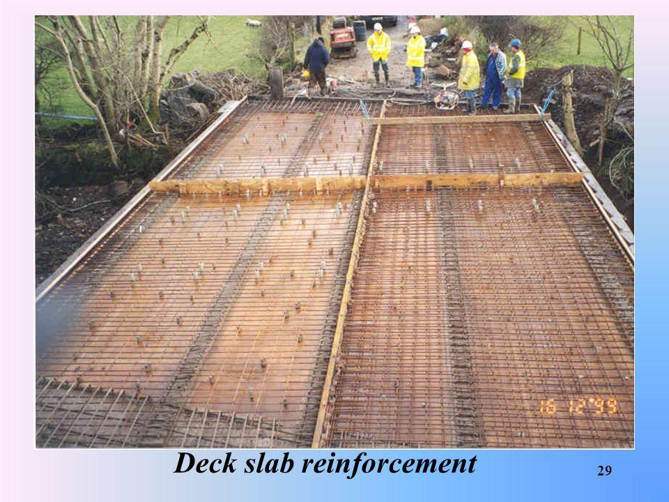 Deck slab reinforcement