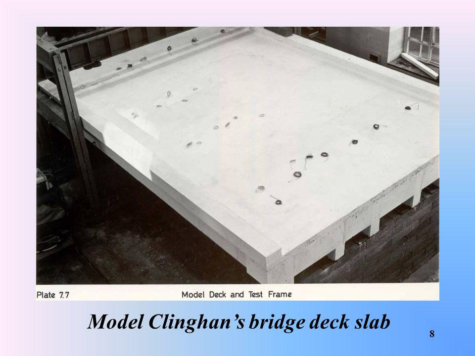 Model Clinghan's bridge deck slab