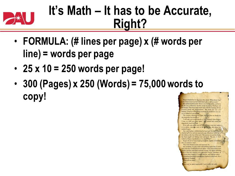 It's Math – It has to be Accurate, Right