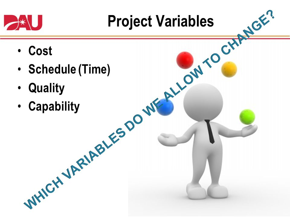 WHICH VARIABLES DO WE ALLOW TO CHANGE