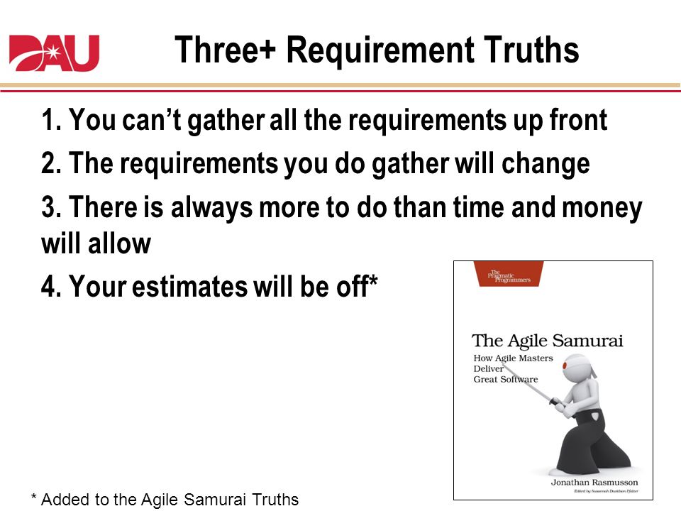 Three+ Requirement Truths
