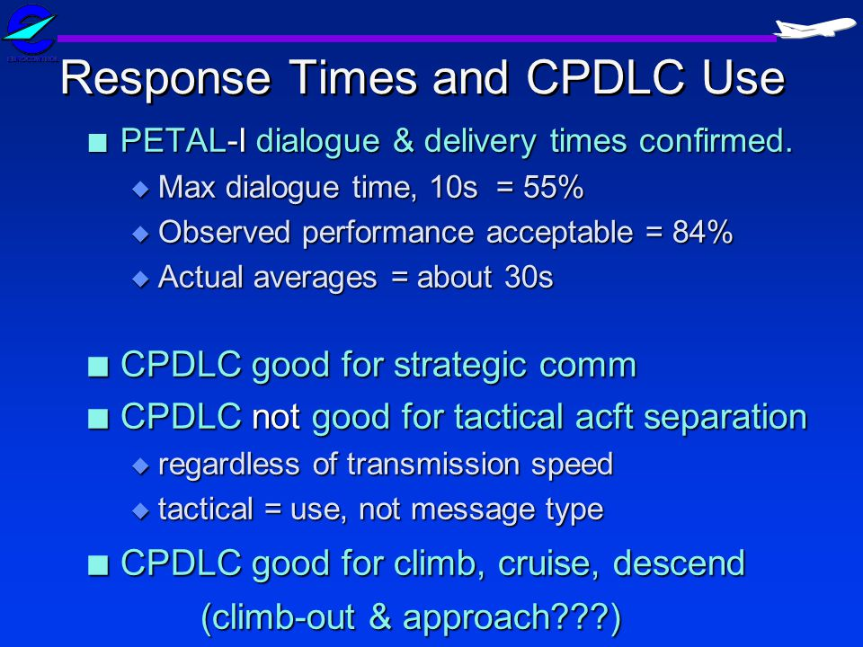 Response Times and CPDLC Use