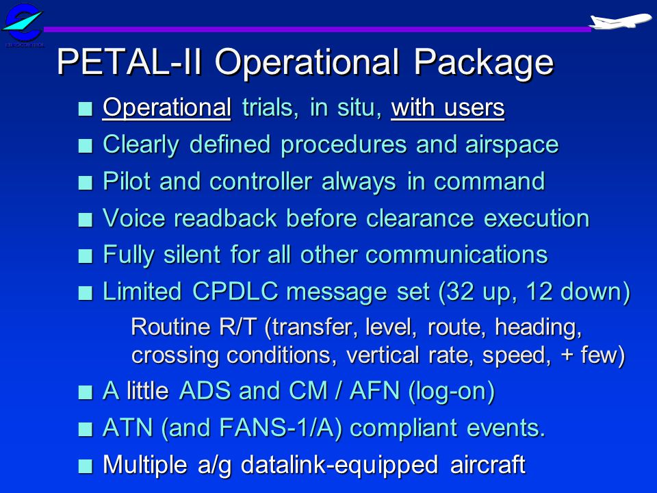 PETAL-II Operational Package