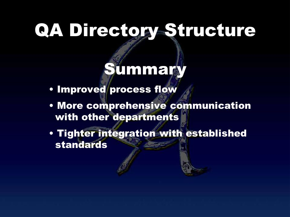 QA Directory Structure