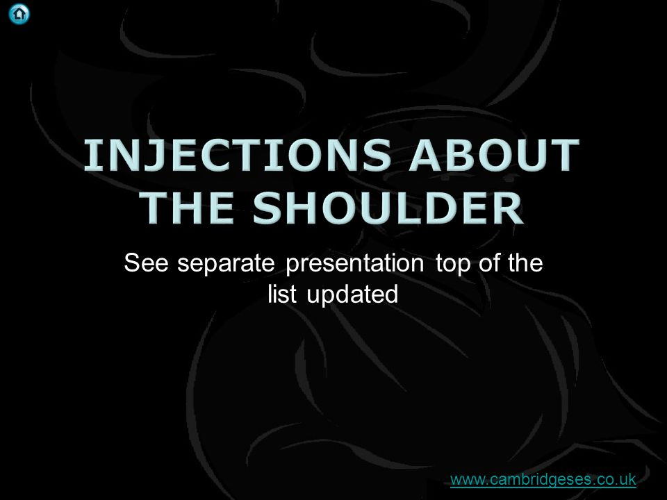 Injections about the shoulder