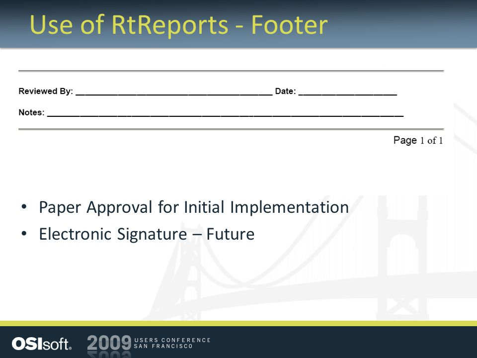 Use of RtReports - Footer