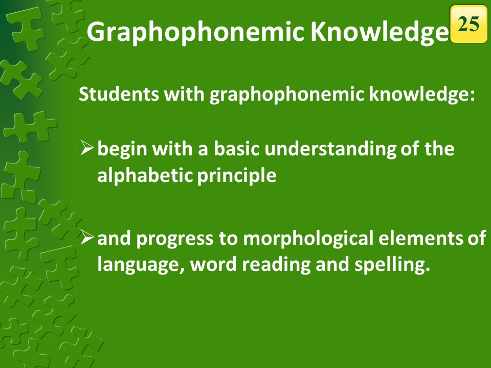 Graphophonemic Knowledge
