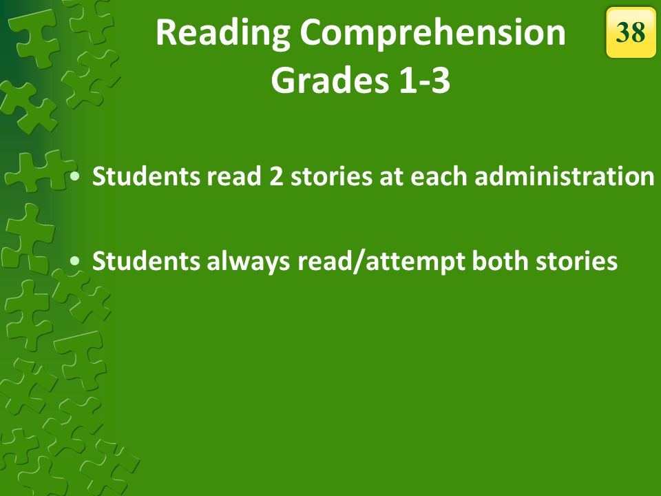 Reading Comprehension Grades 1-3