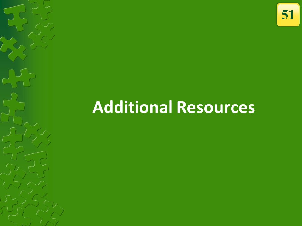 51 Additional Resources