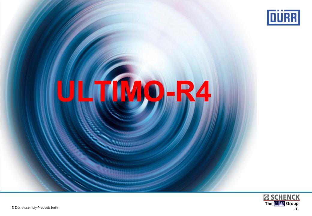 ULTIMO-R4 © Dürr Assembly Products India