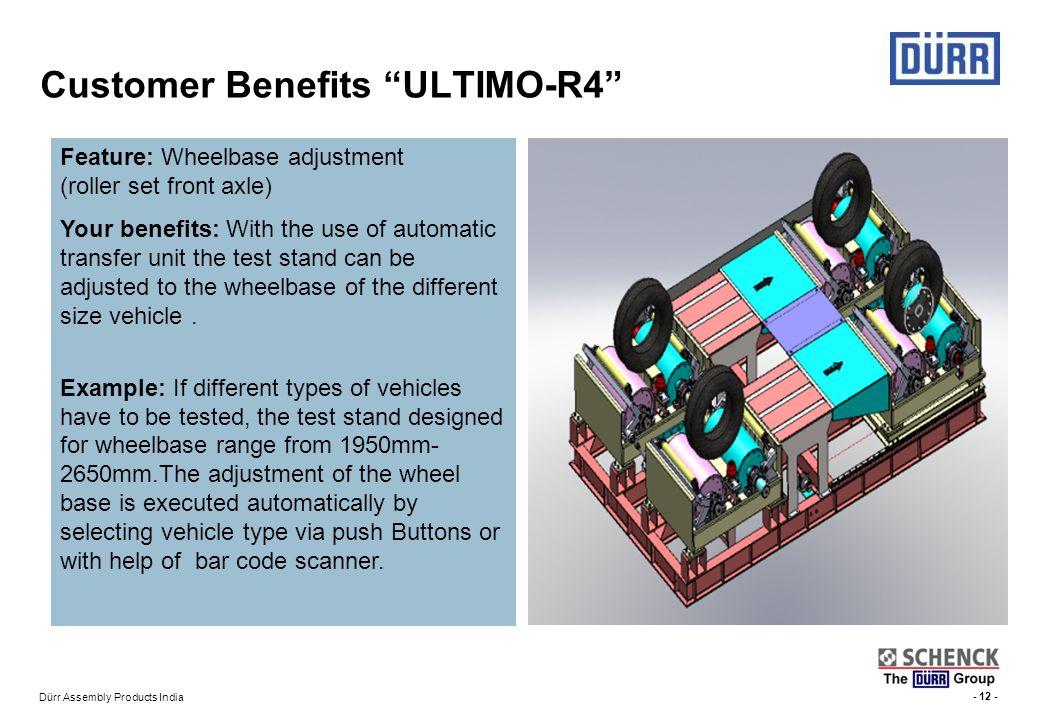 Customer Benefits ULTIMO-R4