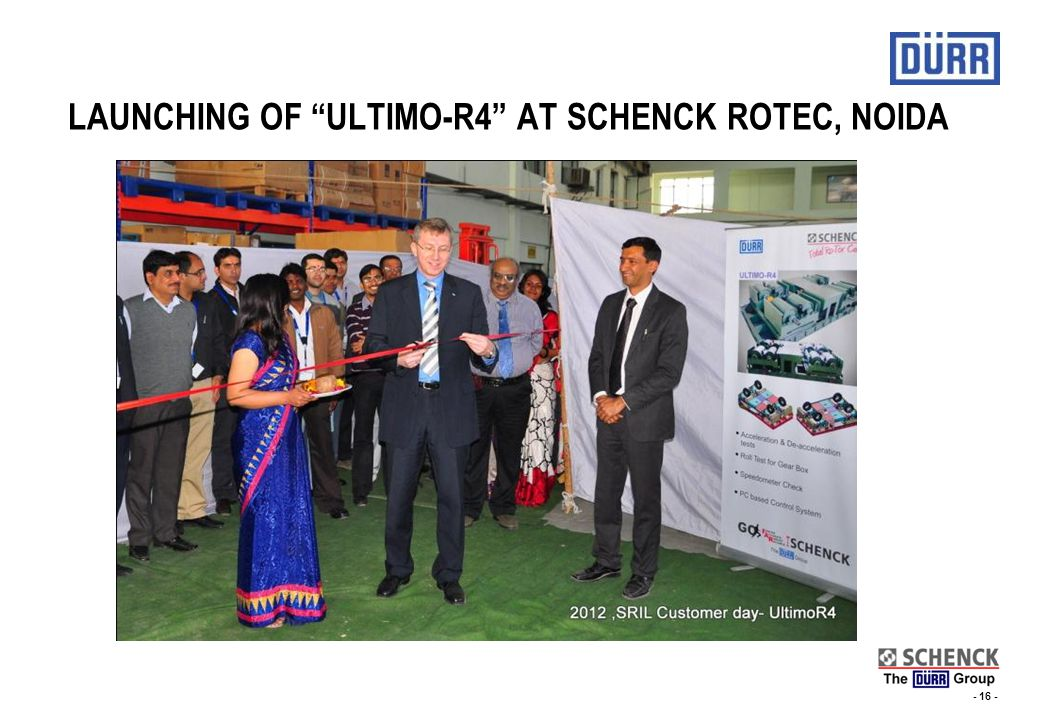 LAUNCHING OF ULTIMO-R4 AT SCHENCK ROTEC, NOIDA