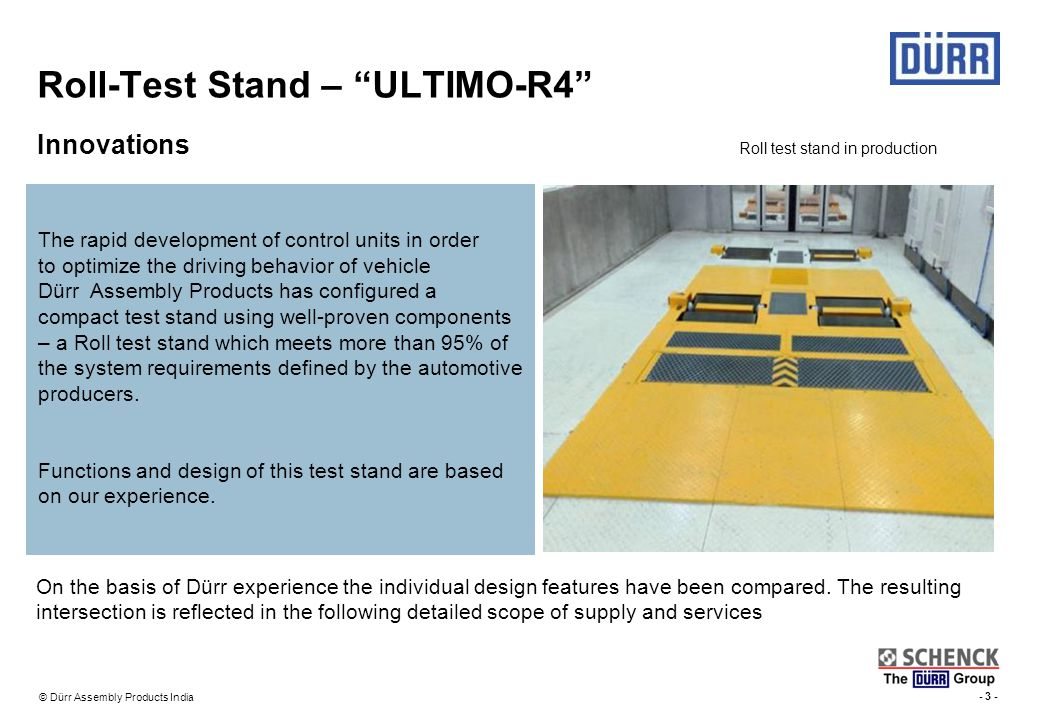 Roll-Test Stand – ULTIMO-R4