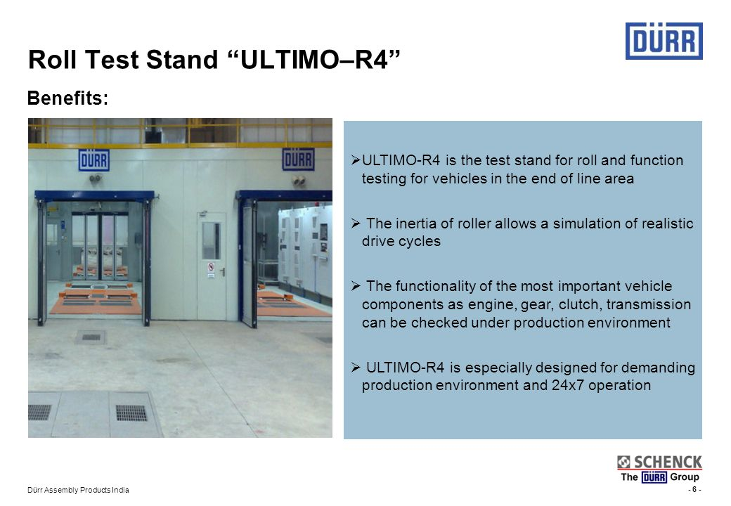 Roll Test Stand ULTIMO–R4