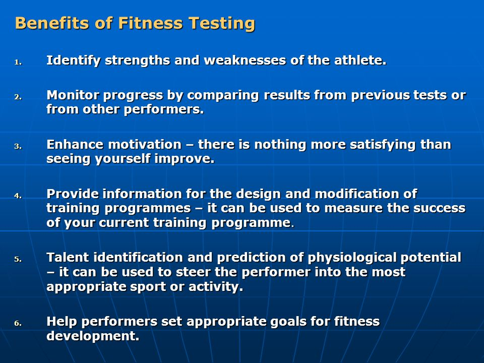 Benefits of Fitness Testing