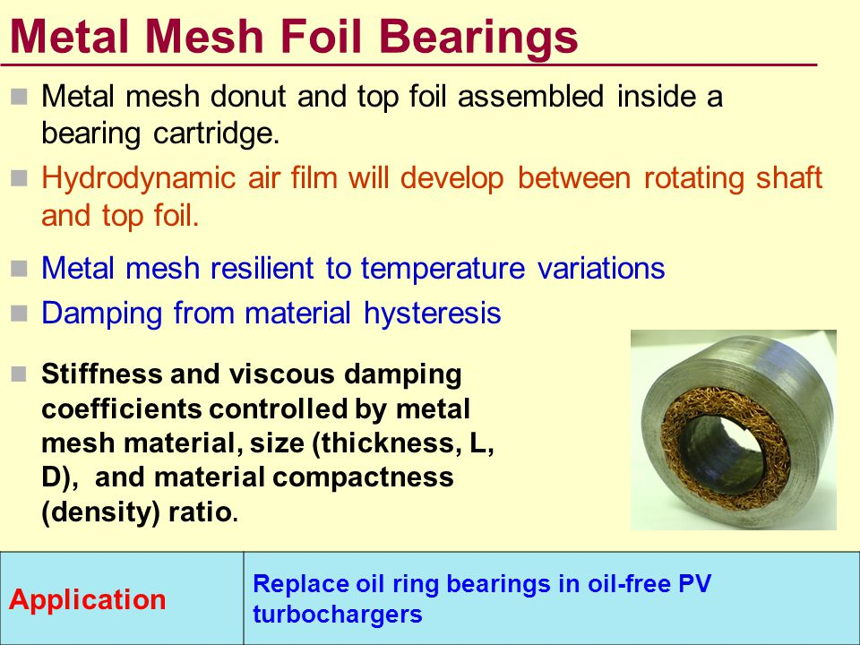 Metal Mesh Foil Bearings